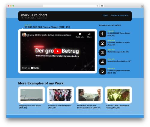 Selecta WordPress video theme - markusreichert.tv