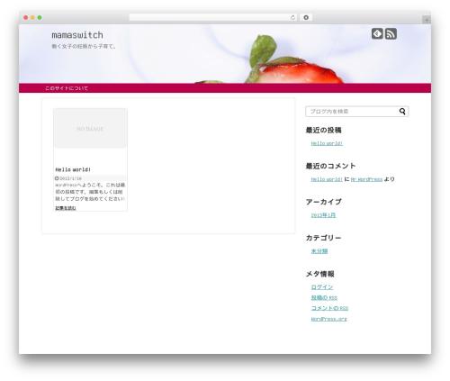 Simplicity1.4.0 WordPress page template - mamaswitch.com