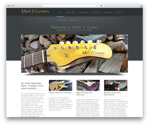 Simplify free WordPress theme - markvguitars.com