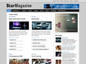 Star Magazine WordPress news template