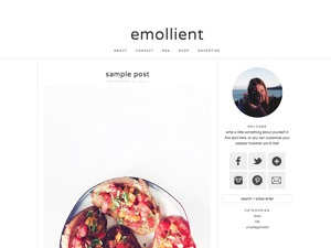 Template WordPress emollient