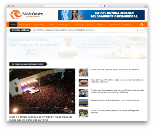 Top News WordPress theme - maisoeste.com.br