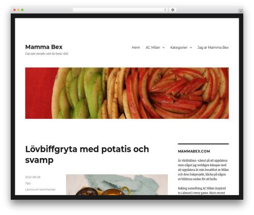 Twenty Sixteen template WordPress free - mammabex.com