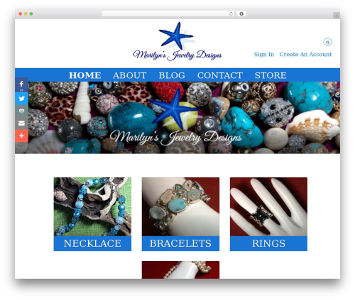 Free WordPress Ecwid Ecommerce Shopping Cart plugin - marilynsjewelrydesigns.com