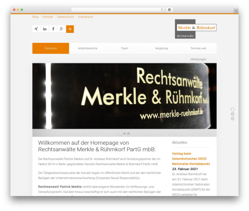 Unity WordPress theme - merkle-ruehmkorf.de
