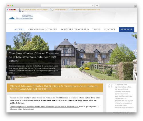 Viva Hotel WordPress website template - montsaintmichel-clerval.com