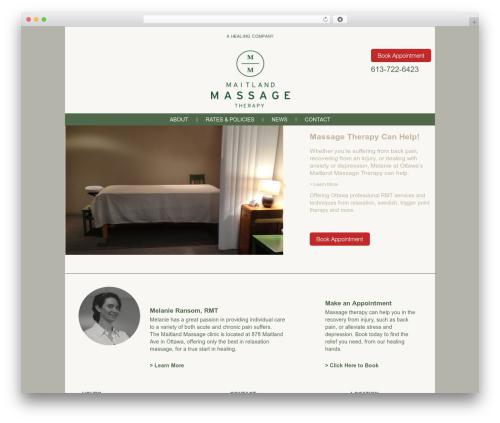 Voyage WordPress theme design - maitlandmassage.ca