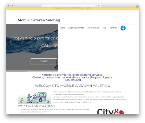 WordPress theme Lucy - mobilecaravanvaleting.co.uk