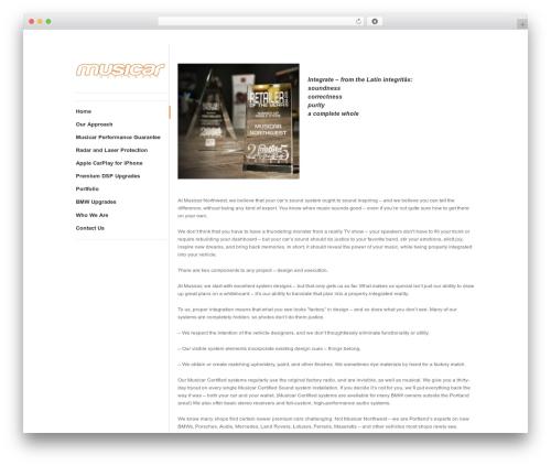 WordPress website template ShapeShifter 2 - musicarnw.com