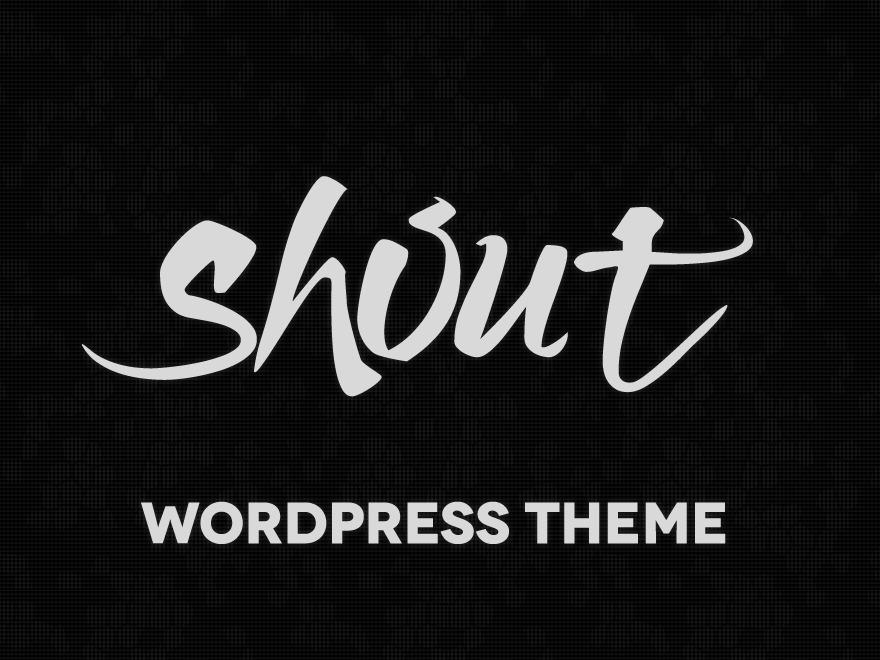 WordPress website template Shout