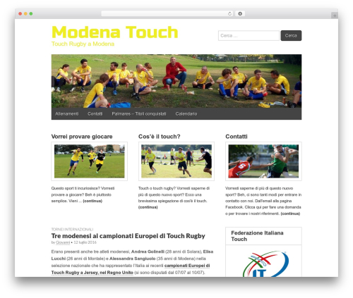 WP template Gridiculous - modenatouch.it