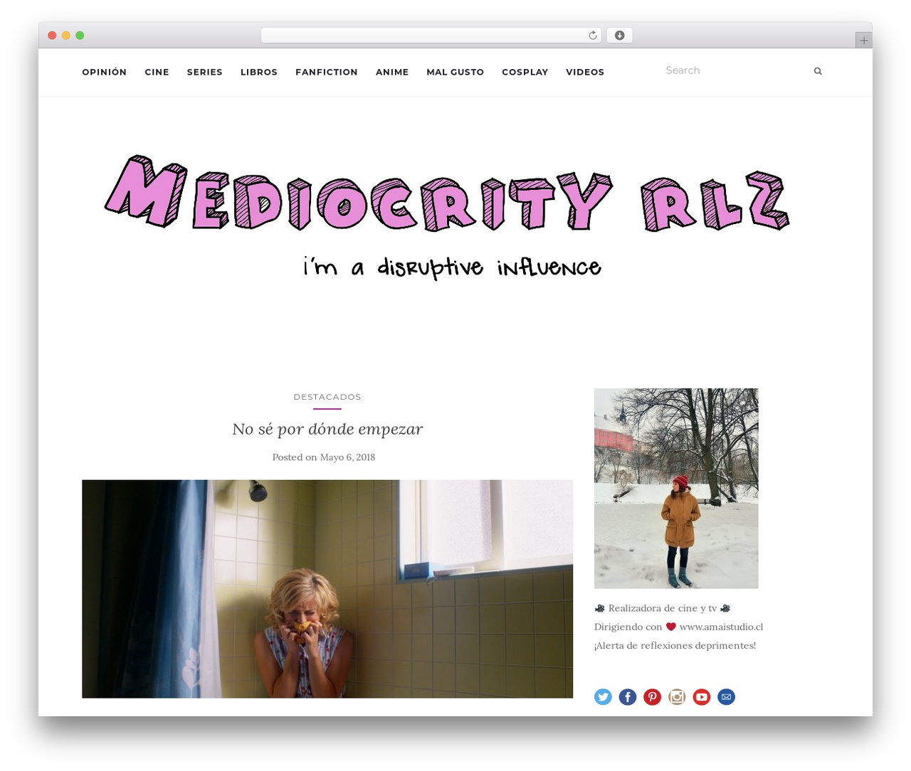 Activello WordPress theme - mediocrityrlz.com