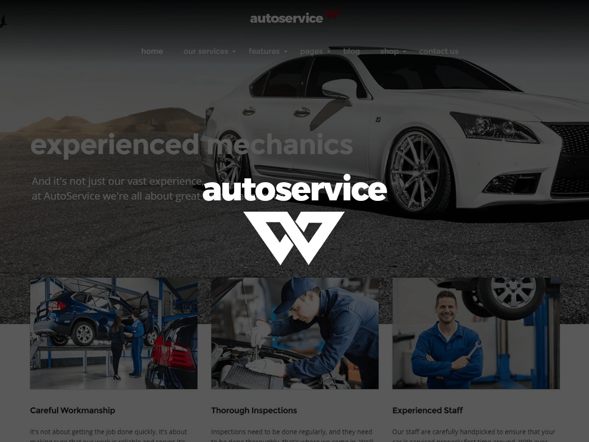 AutoService template WordPress