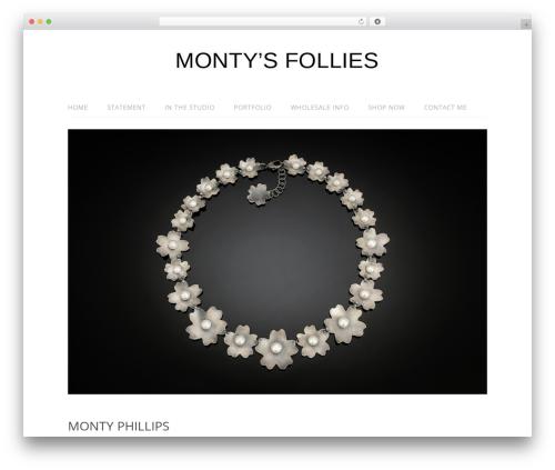 Best WordPress template Lifestyle - montysfollies.com