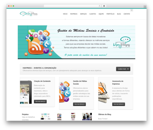 Best WordPress theme Hyperion - maypress.com.br