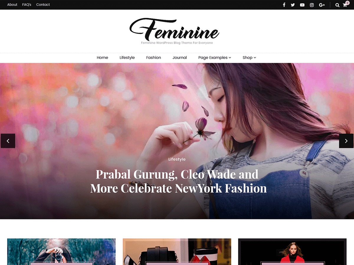 Blossom Feminine Child WordPress theme