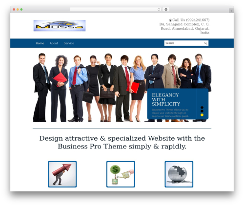 Business Pro WordPress template for business by VAThemes.com