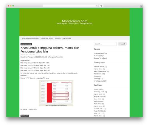 Codium Extend template WordPress free - mohdzamri.com