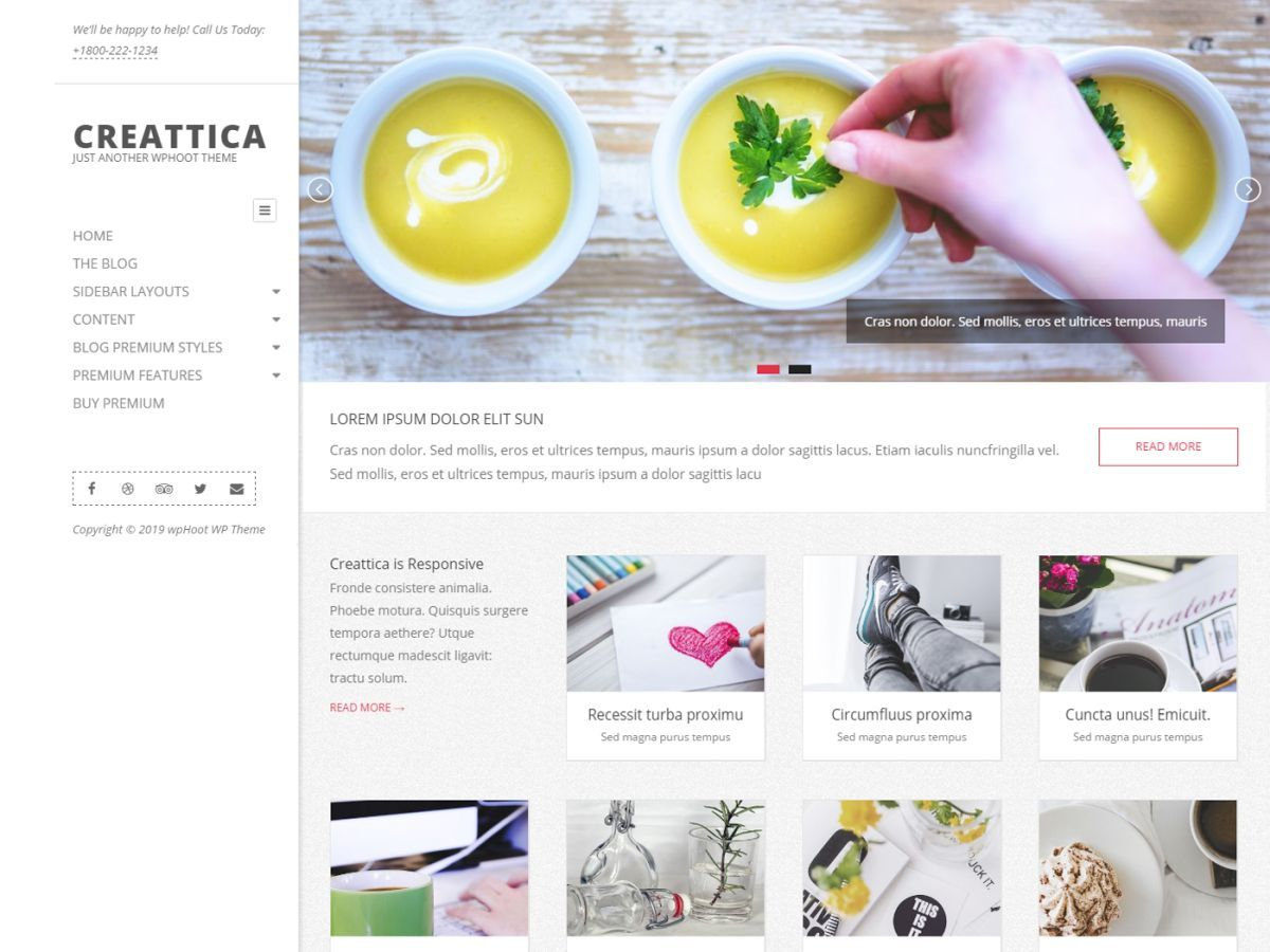 Creattica Premium fitness WordPress theme