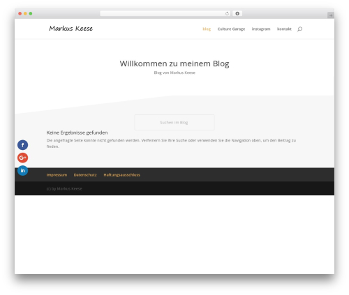 Divi WordPress theme design - markus-keese.de