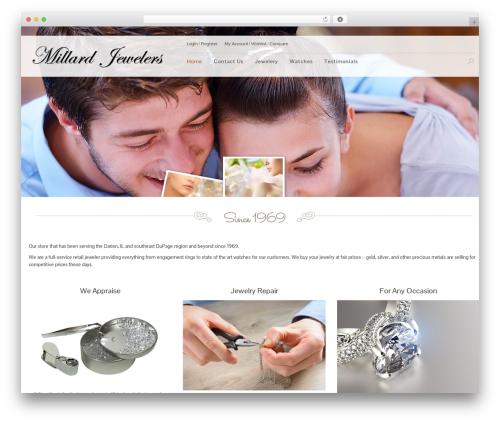 Jewelry Shop WordPress ecommerce template - millardjewelers.com