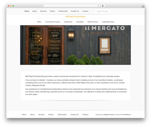 Lucid WP theme - mill-right.ca