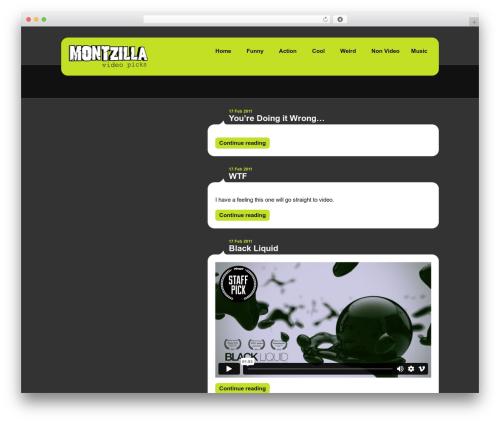 Selecta premium WordPress theme - montzilla.com
