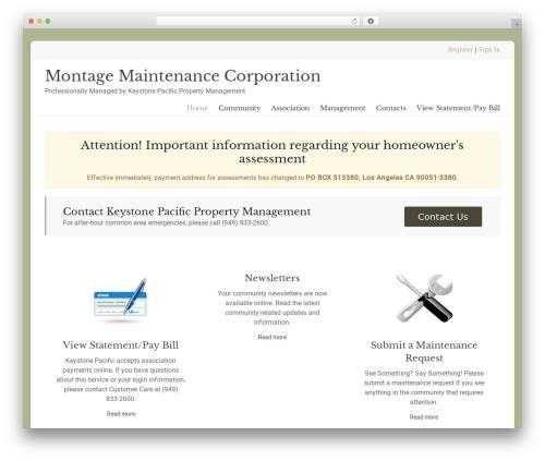 Spacious Pro WordPress theme - montagecompton.com