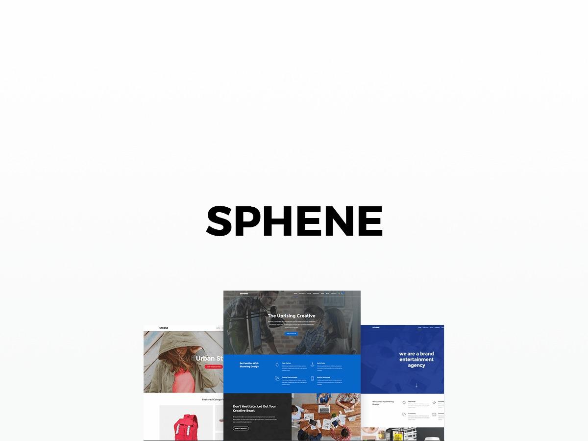 Sphene WordPress store theme