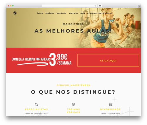 TopFit gym WordPress theme - maisfitness.pt