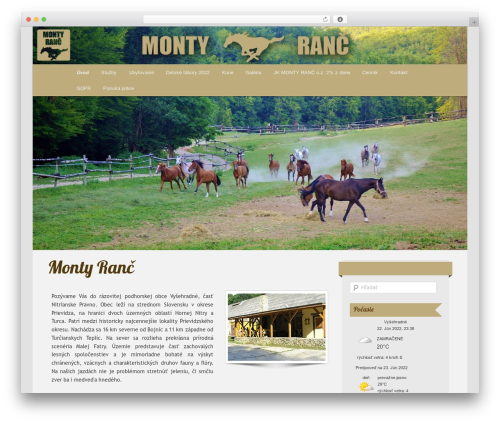 Twenty Eleven free WordPress theme - montyranc.sk