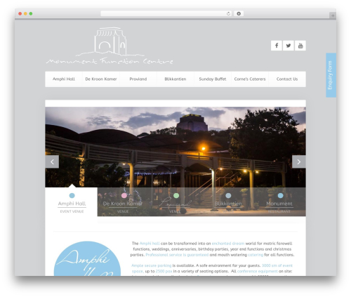 Unity WordPress restaurant theme - monumentrestaurant.co.za