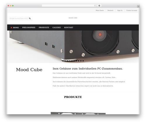WordPress theme Perfectum - mood-cube.ch