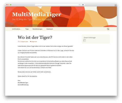 WordPress theme Twenty Thirteen - mmtiger.com