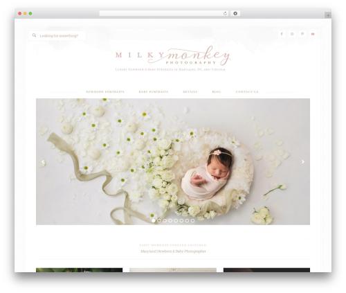 WordPress website template Bloom Theme - milkymonkeyphotography.com