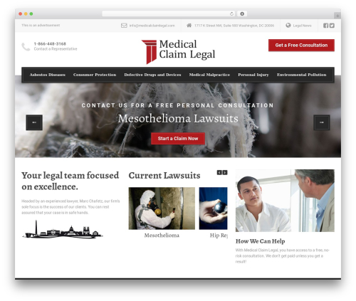 WP theme LegalPress by ProteusThemes - medicalclaimlegal.com