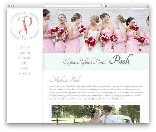X WordPress wedding theme - makeitposh.com