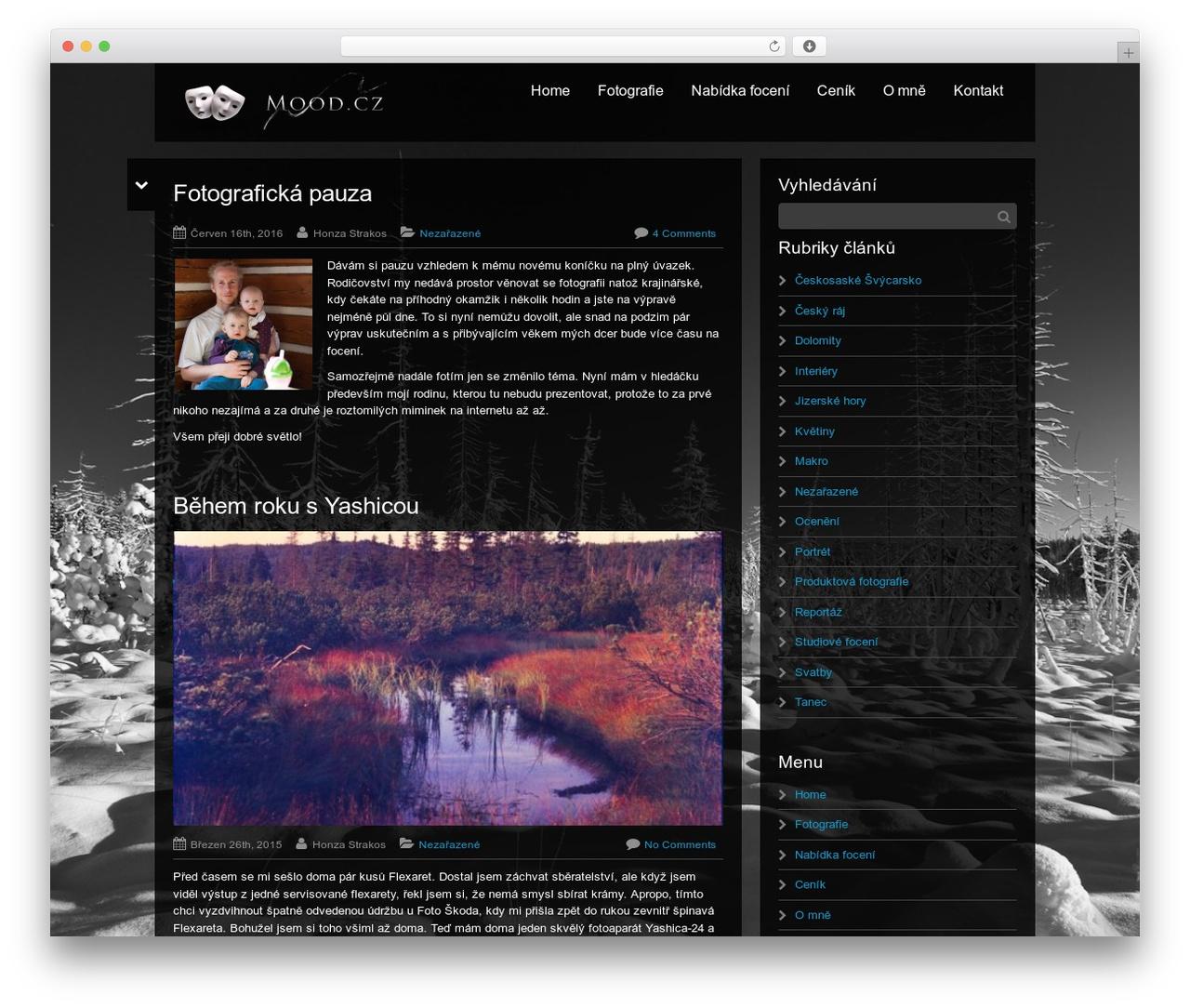 Black Label theme WordPress - mood.cz