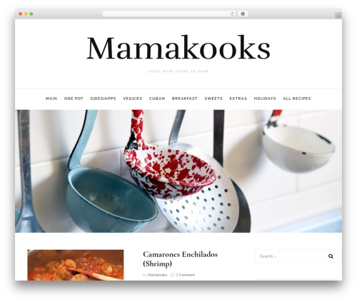 Blossom Fashion fashion WordPress theme - mamakooks.com
