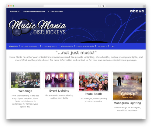 CorporateBusiness Freemium WordPress wedding theme - musicmaniadjs.com