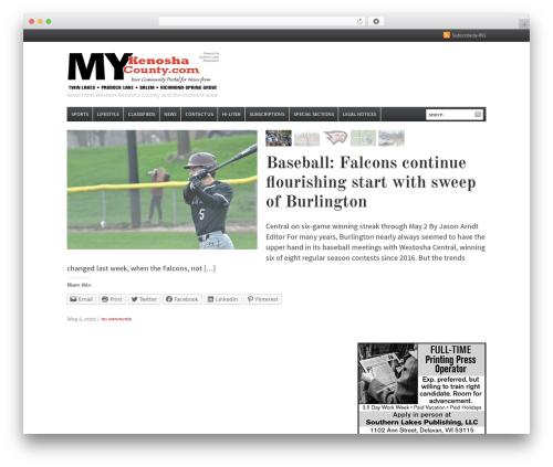Daily Headlines WordPress news template - mykenoshacounty.com