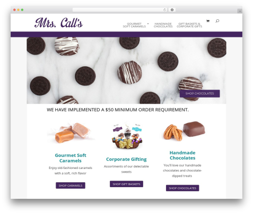 Divi WordPress theme - mrscalls.com