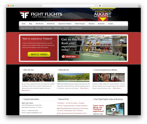 Genesis WordPress travel theme - mmafightflights.com
