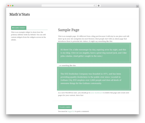 Inception theme WordPress free - mathnstats.com
