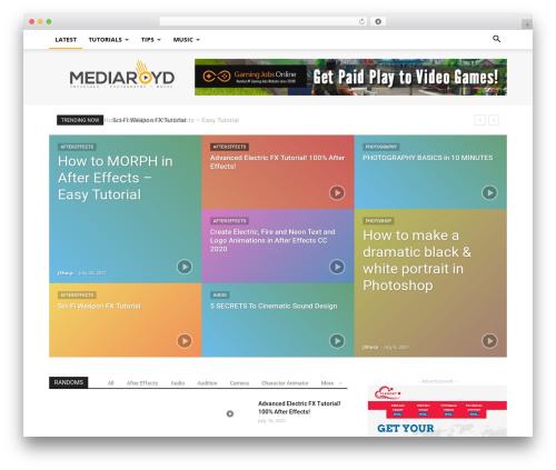 Newspaper WordPress magazine theme - mediaroyd.com.au
