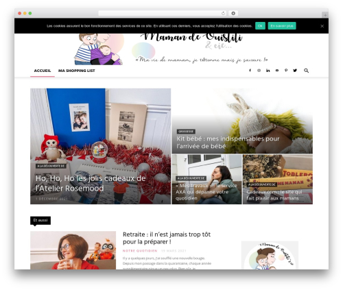 Newspaper WordPress news theme - mamandeouistiti.com