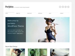 Perfekto WordPress portfolio template