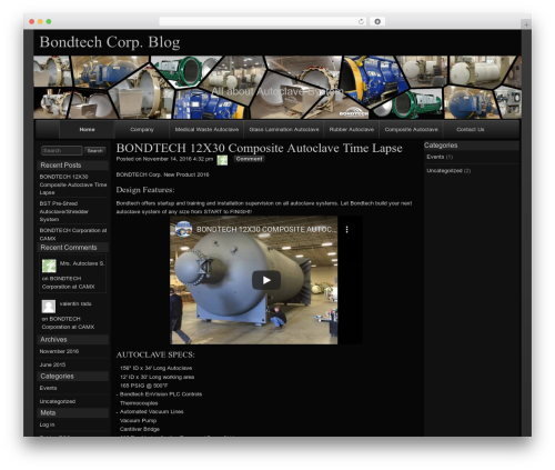 raindrops WordPress theme - mrsautoclave.com