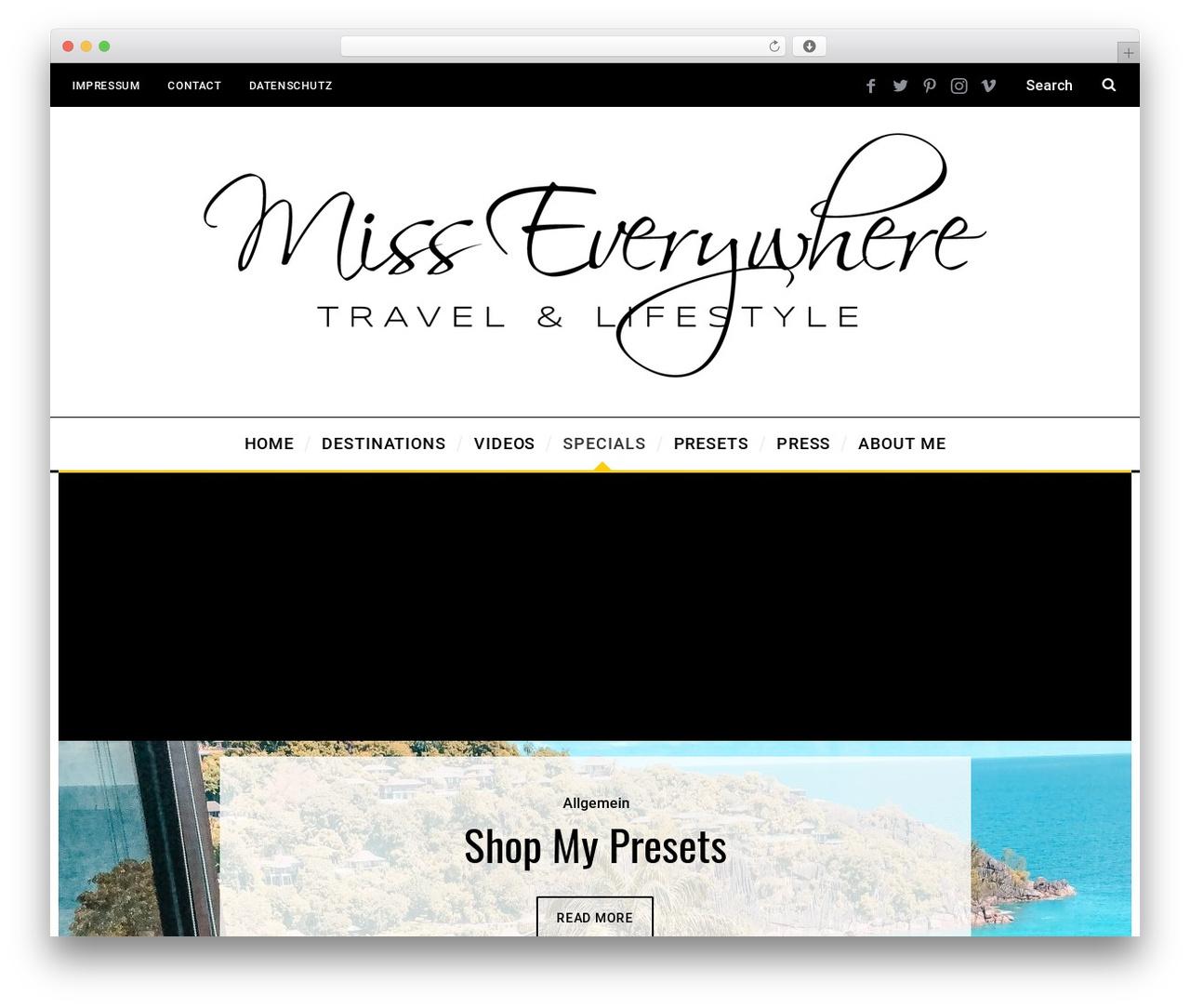 SimpleMag WordPress travel theme - misseverywhere.com