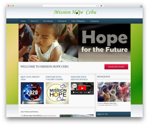 The Cause WordPress template - missionhopecebu.org